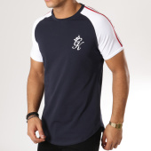 /achat-t-shirts-longs-oversize/gym-king-tee-shirt-oversize-avec-bandes-kray-taped-bleu-marine-blanc-rouge-161811.html