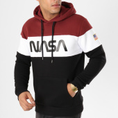 /achat-sweats-capuche/nasa-sweat-capuche-worm-logo-bordeaux-blanc-noir-161854.html
