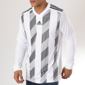 /achat-t-shirts-manches-longues/adidas-tee-shirt-manches-longues-de-sport-striped-19-jersey-dp3210-blanc-noir-161886.html