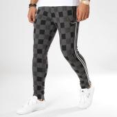 /achat-pantalons-carreaux/classic-series-pantalon-carreaux-avec-bandes-f2513-noir-gris-chine-blanc-161994.html