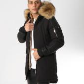 /achat-parkas/hechbone-parka-fourrure-poche-bomber-best-luxe-noir-beige-161931.html