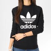 https://www.laboutiqueofficielle.com/achat-sweats-col-rond-crewneck/adidas-sweat-crewneck-femme-trefoil-dv2612-noir-blanc-162024.html