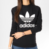 /achat-sweats-col-rond-crewneck/adidas-sweat-crewneck-femme-trefoil-dv2612-noir-blanc-162024.html