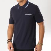 /achat-polos-manches-courtes/calvin-klein-polo-manches-courtes-inst-collar-dip-bleu-marine-162074.html
