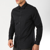 /achat-chemises-manches-longues/calvin-klein-chemise-manches-longues-ckj-embroidery-twill-noir-162078.html