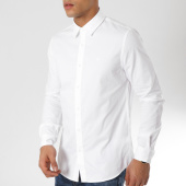 /achat-chemises-manches-longues/calvin-klein-chemise-manches-longues-ckj-embroidery-twill-blanc-162079.html