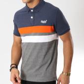 /achat-polos-manches-courtes/superdry-polo-manches-courtes-classic-terrace-m11010er-gris-chine-bleu-marine-orange-162066.html