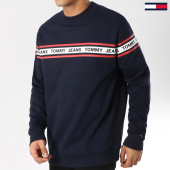 /achat-sweats-col-rond-crewneck/tommy-hilfiger-jeans-sweat-crewneck-tape-5904-bleu-marine-162062.html