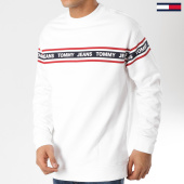 /achat-sweats-col-rond-crewneck/tommy-hilfiger-jeans-sweat-crewneck-tape-5904-blanc-162063.html