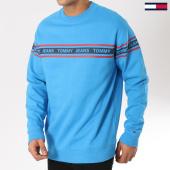 /achat-sweats-col-rond-crewneck/tommy-hilfiger-jeans-sweat-crewneck-tape-5904-bleu-clair-162069.html