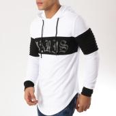 /achat-sweats-capuche/john-h-sweat-capuche-oversize-9121-blanc-noir-162207.html