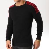 /achat-pulls/john-h-pull-007-noir-rouge-162227.html