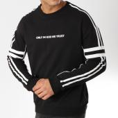 /achat-sweats-col-rond-crewneck/uniplay-sweat-crewneck-avec-bandes-uy303-noir-blanc-162153.html