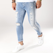 /achat-jeans/classic-series-jean-slim-avec-bandes-3307-bleu-wash-blanc-162250.html