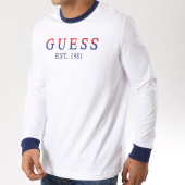 /achat-t-shirts-manches-longues/guess-tee-shirt-manches-longues-m91i24k84y0-blanc-162311.html