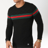 /achat-pulls/paname-brothers-pull-avec-bandes-113-noir-162277.html