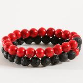 /achat-bracelets/california-jewels-lot-de-2-bracelets-b939-2-noir-rouge-162349.html