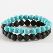 /achat-bracelets/california-jewels-lot-de-2-bracelets-b939-3-noir-turquoise-162350.html