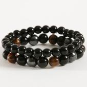 /achat-bracelets/california-jewels-lot-de-2-bracelets-b924-tigers-eye-noir-162371.html