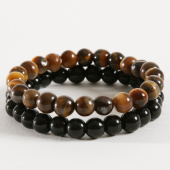 /achat-bracelets/california-jewels-lot-de-2-bracelets-tigers-eye-natural-noir-marron-162372.html