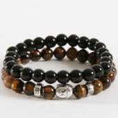 /achat-bracelets/california-jewels-lot-de-2-bracelets-tigers-eye-buddha-noir-marron-162373.html