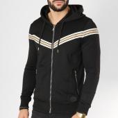 /achat-sweats-zippes-capuche/project-x-sweat-zippe-capuche-avec-bandes-88183341-noir-beige-dore-162399.html