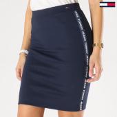 https://www.laboutiqueofficielle.com/achat-jupes/jupe-femme-avec-bandes-tape-detail-5678-bleu-marine-162326.html