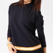 /achat-t-shirts-manches-longues/vero-moda-tee-shirt-manches-longues-femme-avec-bandes-sira-bleu-marine-162401.html