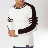/achat-pulls/classic-series-pull-avec-bandes-pogba-blanc-casse-162495.html