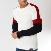 /achat-pulls/classic-series-pull-avec-bandes-ricardo-blanc-casse-162503.html