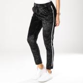 /achat-pantalons-carreaux/girls-only-pantalon-femme-velours-avec-bandes-a036b-noir-blanc-162583.html