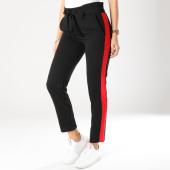 /achat-pantalons-carreaux/girls-only-pantalon-femme-avec-bandes-a007-noir-rouge-162592.html