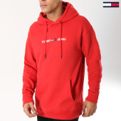 /achat-sweats-capuche/tommy-hilfiger-jeans-sweat-capuche-small-logo-5146-rouge-162611.html