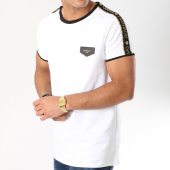 /achat-t-shirts-longs-oversize/gianni-kavanagh-tee-shirt-oversize-bandes-brodees-gold-luxe-ribbon-blanc-noir-dore-162654.html