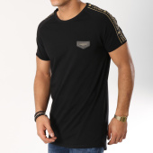 /achat-t-shirts-longs-oversize/gianni-kavanagh-tee-shirt-oversize-bandes-brodees-gold-luxe-ribbon-noir-dore-162656.html