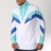 /achat-vestes/sinners-attire-veste-zippee-bandes-brodees-retro-blanc-bleu-turquoise-bleu-marine-162662.html