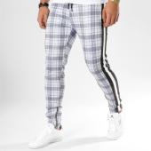 /achat-pantalons-carreaux/sinners-attire-pantalon-carreaux-avec-bandes-cropped-gris-noir-blanc-162665.html