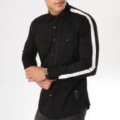/achat-chemises-manches-longues/uniplay-chemise-manches-longues-avec-bandes-sh-01-noir-162785.html