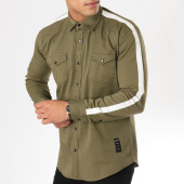 /achat-chemises-manches-longues/uniplay-chemise-manches-longues-avec-bandes-sh-01-vert-kaki-162787.html