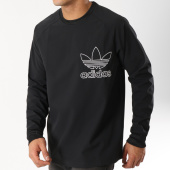 /achat-sweats-col-rond-crewneck/adidas-sweat-crewneck-outline-dx3860-noir-blanc-162915.html