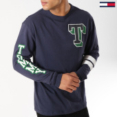 /achat-t-shirts-manches-longues/tommy-hilfiger-tee-shirt-manches-longues-varsity-5128-bleu-marine-162877.html
