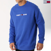 /achat-sweats-col-rond-crewneck/tommy-hilfiger-jeans-sweat-crewneck-small-logo-5147-bleu-roi-162878.html