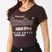 https://www.laboutiqueofficielle.com/achat-t-shirts/tee-shirt-femme-premium-goods-star-bordeaux-chine-dore-162981.html