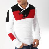 /achat-pulls/john-h-pull-col-amplified-jp-25-blanc-bleu-marine-rouge-162999.html