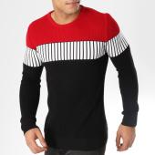 /achat-pulls/john-h-pull-jh020-noir-blanc-rouge-163015.html