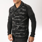 /achat-pulls/john-h-pull-avec-col-amplified-30-noir-gris-anthracite-camouflage-163034.html