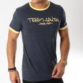 /achat-t-shirts/teddy-smith-tee-shirt-ticlass-3-bleu-marine-chine-jaune-163093.html
