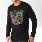 /achat-t-shirts-manches-longues/versace-jeans-tee-shirt-manches-longues-b3gsa72f-noir-dore-163058.html