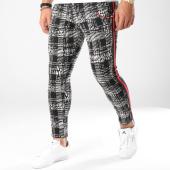 /achat-pantalons-carreaux/classic-series-pantalon-avec-bandes-18-f2514-blanc-noir-163164.html