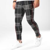 /achat-pantalons-carreaux/classic-series-pantalon-avec-bandes-18-f2516-noir-blanc-163166.html